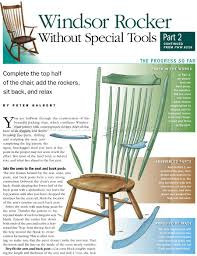 woodworking design howo build rocking chair from scratch windsor plans woodarchivist how to a