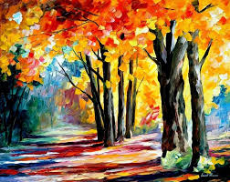 oaks of feelings palette knife oil painting on canvas by leonid afremov size
