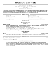 Management Resume Templates To Impress Any Employer LiveCareer Enchanting Resume For Management Position