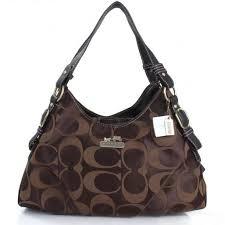 buy 947ae 5d296 Genuine Coach Signature Medium Coffee Shoulder Bags ...
