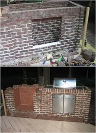 installing grill how to build an outdoor fireplace homesteading diy skills