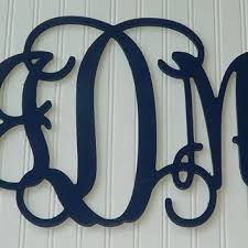 wall hanging painted monogram 15 size personalized wooden lett