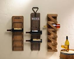 unusual decorative wall wine rack room decorating ideas rustic wood kitchen storage mounted racks metal