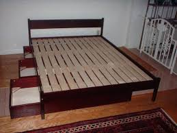 diy bed frame with storage build your own bed high queen platform frame with storage elevated diy bed frame