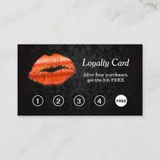 Beauty Salon Loyalty Cards Business Cards 100
