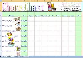 Family Daily Chore Chart Template Free Daily Chore Charts