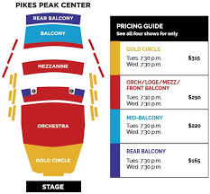 Pikes Peak Performing Arts Center Seating Chart Broadway At Pikes Peak Center Learn More About Season