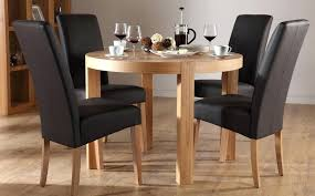 round kitchen table sets for 4 wood dining four black leather small tables 42 48