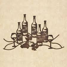 featured image of wine metal wall art