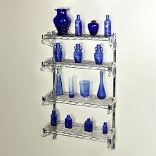 blue wall shelf starbound 4 chrome wire mounted kits shelving
