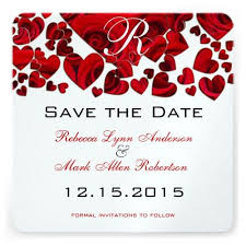 Red Save The Date Cards Red Black And White Wedding Saved The Date Red And Black