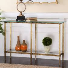 brass console table. Elenio Glass Console Table Brass T