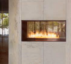 Spark Fire Ribbon Vent Free Single Vu  Stone IncSpark Fireplace