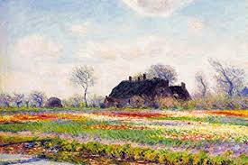 Amazon.com: Claude Monet Tulip Fields at Sassenheim Near Leiden Cool Wall  Decor Art Print Poster 18x12: Posters & Prints