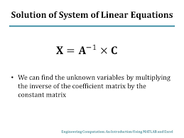 solution of system of linear equations