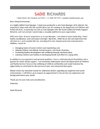 Best Case Manager Cover Letter Examples Livecareer