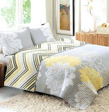 gray and yellow comforter gray white and yellow crib bedding yellow and gray quilt from