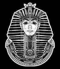 Fototapeta Faraon Tetování Egypt Faraon Grafický Tričko Konstrukce Veliký
