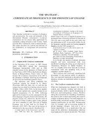 Pdf The Ipa Exam Certificate Of Proficiency In The
