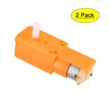 <b>DC3</b>-<b>6V</b> 70-150RPM 1:130 <b>Dual Shaft</b> DC Geared TT Motor Orange ...