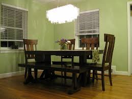 Dining Room:Exciting White Ceiling Chandelier Lighting For Dining Room With  Square Dark Wood Dining