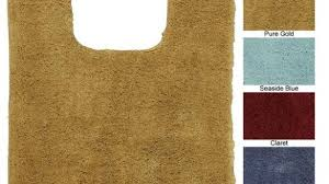 picturesque contour toilet rug on impressive bath with beautiful gold bathroom rugs