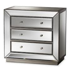 hollywood regency mirrored furniture. Baxton Studio Edeline Hollywood Regency Glamour Style Mirrored 3-Drawer Chest Furniture