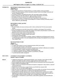 Registered Nurse Resume Registered Nurse Resume Prn Registered Nurse