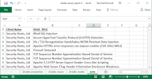 Generate Your Excel Report Dradis Pro Help