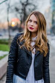 white shirt dress leather jacket black outfit 8