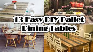 13 easy diy pallet dining tables