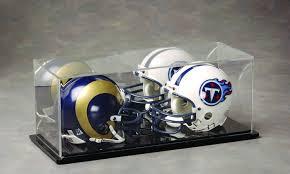 b 2005 two mini helmet acrylic display case