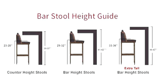 Bar Stool Size Chart What Is Bar Stool Height Konsulatet Org