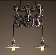 pendant lighting restoration hardware cast antique iron restoration hardware pendant trolley barn style steampunk furniture two