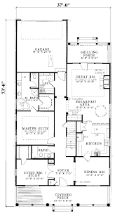 Hawk Hill Narrow Lot Home Plan D    House Plans and MoreNarrow Lot Home With Rear Entry Garage  Country House Plan First Floor   D    House Plans and More