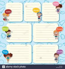 Days Of The Week Chart For Toddlers Chart Children Days Week Stock Photos Chart Children Days