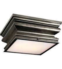 Awesome Bronze Flush Mount Visual Comfort Square In Basil Bronz .