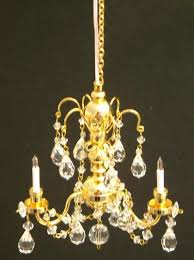 real crystal 3 arm chandelier gold finish