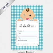 baby shower carte d invitation mignon vecteur gratuit