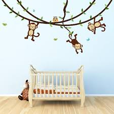 monkey wall decals top wall stickers for kid39s rooms and