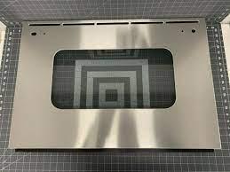 ge outer oven door glass part