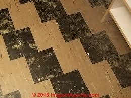 asbestos containing 9x9 floor tiles from a 1950 s home c inspectapedia
