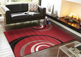 baby nursery appealing sterling retro waves rug red black white modern rugs floor x cm