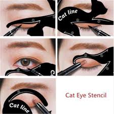 1 pair cat line profession eye makeup and eyeliner stencil template shaper