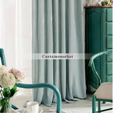 Sale Cotton And Polyester Light Green Drapes And Curtains