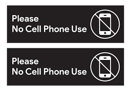 Please No Cell Phone Use Sticker Signs Workplace Safety Signage