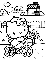 Hello Kitty Coloring Birthday Hello Kitty Coloring Pages Cool 3036 ...