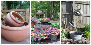 diy small water feature ideas. 15 diy outdoor fountain ideas - how to make a garden for your backyard diy small water feature