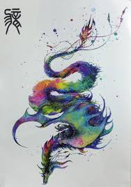The Chinese Zodiac About Color Matching Dragon Body Art Beauty Waterproof Temporary Tattoo Stickers