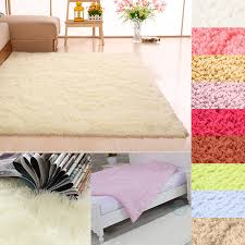 details about gy fluffy rugs anti skid area rug dining room carpet home bedroom floor mat